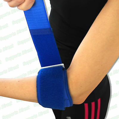 Tennis Golfer Elbow Strap Epicondylitis Wrap Brace Support Lateral Pain Syndrome • 4.45£