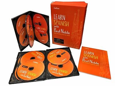 Learn Spanish With Paul Noble Collins 12 CDs, Booklet, Collection Box Set • 26.99£
