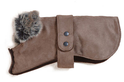 Chelsea Dog Coat In Faux Suede With Warm Fleecy Lining - Made In The Uk • 11.50£