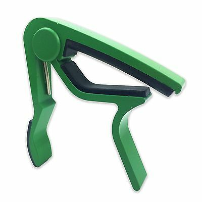 AU4.89 • Buy GREEN Aluminum Guitar Capo Spring Trigger Electric Acoustic Clamp Quick Release