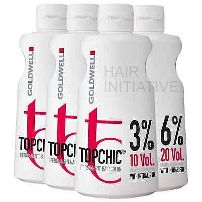 Goldwell Topchic Lotion Developer Peroxide 3% / 6% / 9% / 12% - 1000ml Litre • 12.85£
