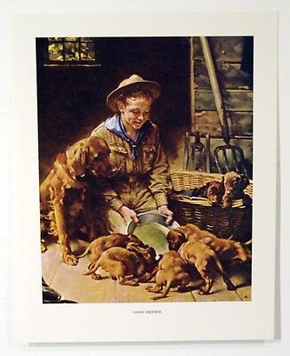 $ CDN24.90 • Buy Vintage Norman Rockwell Good Friends - We Thank Thee O Lord Boy Scout Print Set