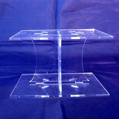 Clear Acrylic Square Wedding/Party Cake Separator • 12.99£