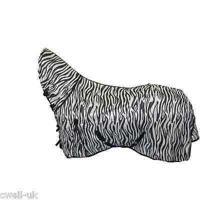 £19.99 • Buy * 2 DAYS OFFER New Bug Away Horse Fly Rug Combo Attached Neck Cover ZEBRA PRINT