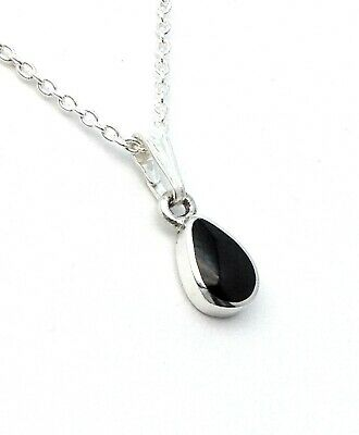 £24 • Buy Genuine Whitby Jet And Sterling Silver  Pendant Jp092 Handmade In Whitby.