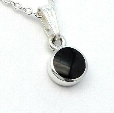 Genuine Whitby Jet And Sterling Silver  Pendant Jp093 Hand Made In Whitby • 22£