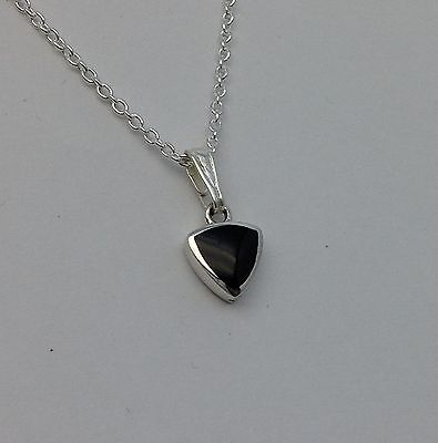 Genuine Whitby Jet And Sterling Silver  Pendant Jp094 Hand Made In Whitby • 22£