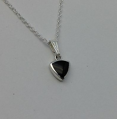 £24 • Buy Genuine Whitby Jet And Sterling Silver  Pendant Jp094 Handmade In Whitby