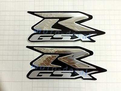 $22.78 • Buy Raised 3D Chrome Decal Emblem For GSXR 600 750 1000 1100 Fairing Sticker Bling