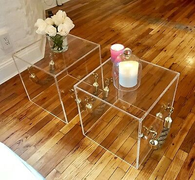 $400 • Buy Lucite/Acrylic Rope Handled Cube - 16  Cu, 3/8  Thick Acrylic, 1-1.5  Thick Rope
