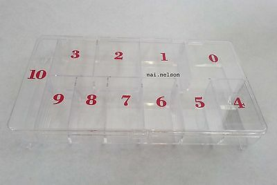 Large Nail Tip Container/ Storage 11-compartment / Empty Tip Box /Acrylic UV Gel • 4.98£