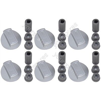 6 X Tricity Bendix Universal Cooker/Oven/Grill Control Knob And Adaptors Silver • 7.85£