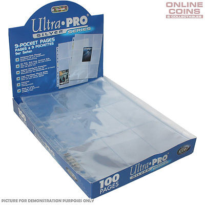 AU4 • Buy Ultra Pro Silver Series 3 Hole 9 Pocket Trading Card Pages - 10 Sheets