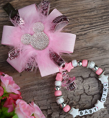 £9.99 • Buy Personalised Stunning Pram Charm In Baby Pink For Baby Girls Boys Ideal Gift