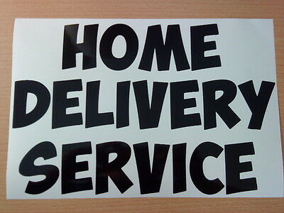 Home Delivery Shop Window Signs Doors Vinyl Sticker Sign Van Chip Pizza Chinese • 3.99£