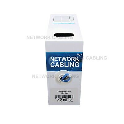 AU39 • Buy Cat6 100M UTP Ethernet Cable Roll Data Networking LAN Cable Box Solid Core