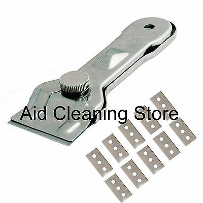Glass & Ceramic Hob & General Metal Paint Scraper With 10 Spare Blades • 4.90£