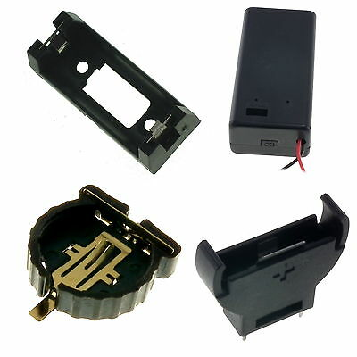 9V PP3, CR2032, CR1220, CR2450, CR123, CR123A, CR1616, C & D Size Battery Holder • 1.15£
