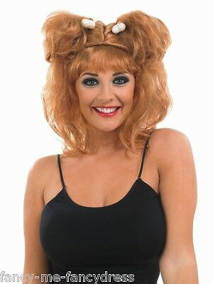 £10.99 • Buy Ladies Sexy Cave Girl Woman Bone Wig Bam Bam Fancy Dress Costume Outfit Wig