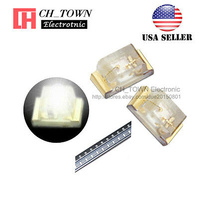 $8.69 • Buy 100PCS 0402 (1005) SMD SMT LED White Light Emitting Diodes Ultra Bright USA