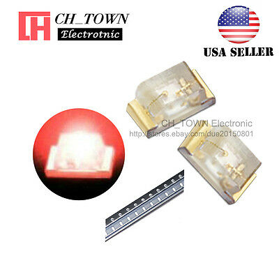 $8.19 • Buy 100PCS 0402 (1005) SMD SMT LED Red Light Emitting Diodes Ultra Bright USA
