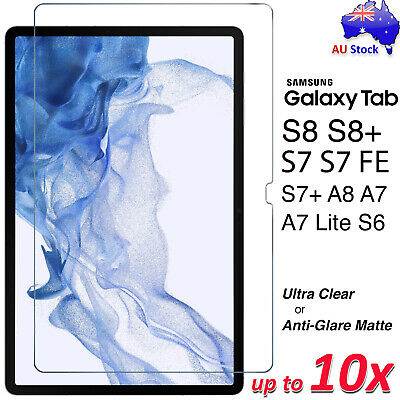 AU6.99 • Buy Premium Screen Protector For Samsung Galaxy Tab A7 S7 S7+ S6 Lite 10.4 A 10.1 8