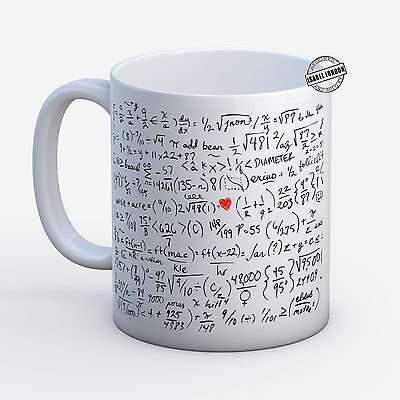 £8.45 • Buy Personalised MATHS EQUATIONS FORMULAS MUG. Customise With Your Own Text. -IL6138