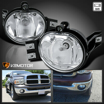 $33.38 • Buy For 2002-2008 Dodge Ram 1500 2500 3500 Bumper Driving Fog Lights Lamps+Switch