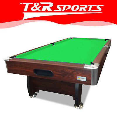 AU703.99 • Buy 15% OFF 8FT Walnut Green Table For Pool Snooker Billiard Free Accessories Pack