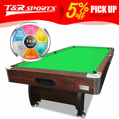 AU703.99 • Buy 8FT Walnut Green Table For Pool Snooker Billiard Free Accessories Pack