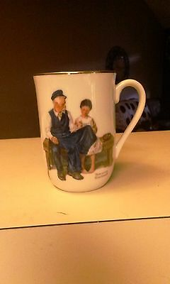 $ CDN6.28 • Buy Vintage 1982 Norman Rockwell Museum 'The Lighthouse Keeper's Daughter' Cup Mug
