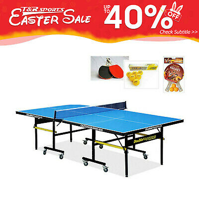AU745.99 • Buy Double Happiness Outdoor Pro 60Table Tennis/Ping Pong Table W/ DHS Accessories