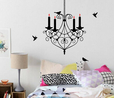 £10.88 • Buy Bird Chandelier Wall Sticker Home Quotes Inspirational Love MS229VC
