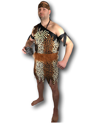 £8.97 • Buy Adult Mens Caveman Fancy Dress Outfit Costume Jungle Tarzan Stag Do Cave Man