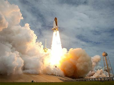 Space Shuttle Atlantis Launches Cape Canaveral, Florida. Art Print Poster 407pya • 13.50£