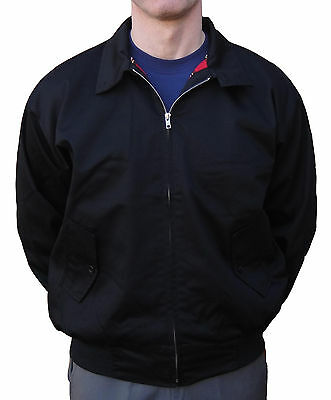 Black Relco Harrington Jacket Skinhead Mods Scooter Retro Northern Soul Ska  • 33.99£