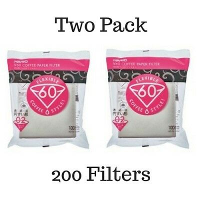 AU29.95 • Buy Hario V60 Filter Paper For 2 Cup Coffee Cone Dripper 100 Pack X 2   SEE VID