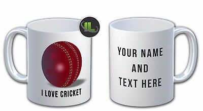 Personalised I LOVE CRICKET  MUG. Can Add Any Name & Text Free IL - 6716  • 8.45£