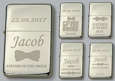 FATHER OF THE BRIDE Personalised LIGHTER  - FREE Engraved - WEDDING GIFT  • 6.99£