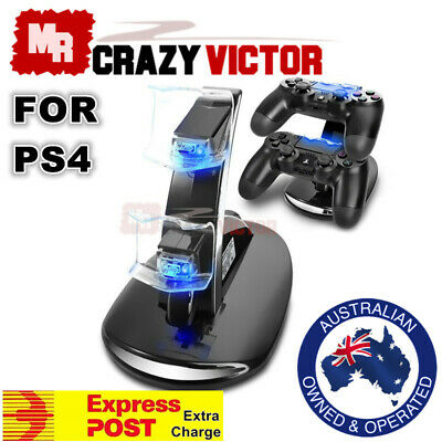 AU17.95 • Buy PlayStation PS4 Controller LED Charger Dock Station Dual USB Fast Charging Stand