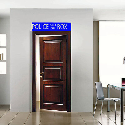 Doctor Who Tardis Police Box Sign Waterproof For Home Wall Windows Door Sticker • 12.48£