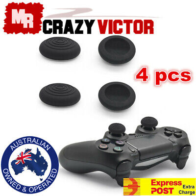 AU2.99 • Buy 4pcs Thumb Grips PS4 Xbox One PS3 Xbox 360 Silicone TPU Gel Controller Stick Cap