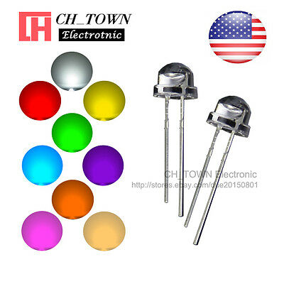$8.89 • Buy 9 Lights 180pcs 5mm LED Diodes Straw Hat White Red Green Blue Yellow Mix Kits