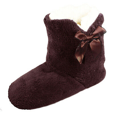 Soft Cosy Ladies Womens Girls Fleece Lined Ankle Slipper Boots Winter Slippers • 7.84£