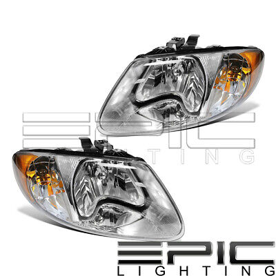 $86.81 • Buy Left Right Pair Head Lamps For 2001-2007 CHRYSLER TOWN & COUNTRY DODGE CARAVAN