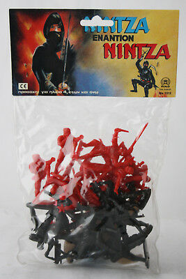 $49.99 • Buy Very Rare Vintage 80's Ninja Greek Plastic Figures Petalo Greece New Mip !