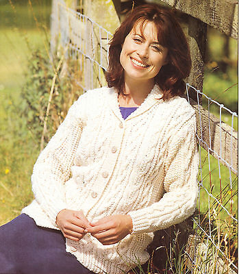 £1.99 • Buy Knitting Pattern- Ladies- Lovely Aran Cable Cardigan- Fits 32-42 Chest