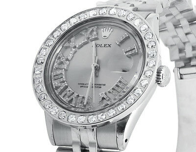 $ CDN8445.46 • Buy Mens Stainless Steel Rolex Datejust Jubilee 36 MM With Roman Number Watch 3.5 Ct