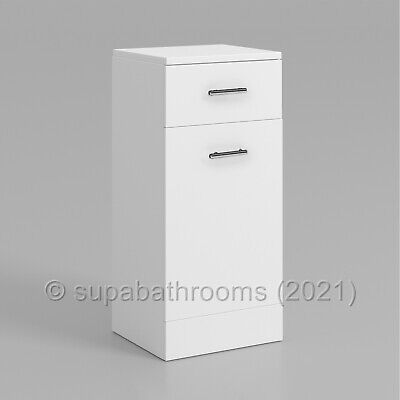 £87.95 • Buy Bathroom Vanity Unit 350 X 300 Classic Cloakroom Gloss White Laundry And Basket