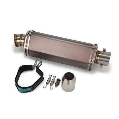£49.30 • Buy New Titanium Exhaust Muffler Without Silencer Scooter Dirt Pit Bike Motorcycle